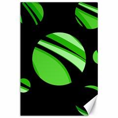 Green Balls   Canvas 12  X 18   by Valentinaart