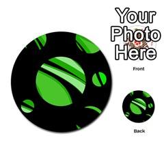 Green Balls   Multi Purpose Cards (round)
