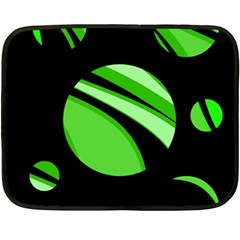 Green balls   Double Sided Fleece Blanket (Mini)