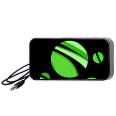Green Balls   Portable Speaker (black)  by Valentinaart