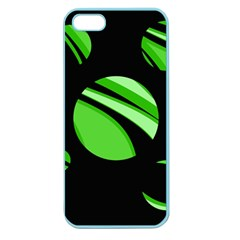 Green Balls   Apple Seamless Iphone 5 Case (color) by Valentinaart
