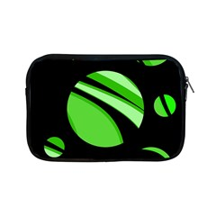 Green Balls   Apple Ipad Mini Zipper Cases by Valentinaart