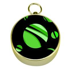 Green Balls   Gold Compasses by Valentinaart
