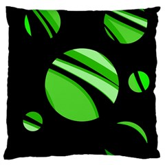 Green Balls   Large Flano Cushion Case (two Sides) by Valentinaart