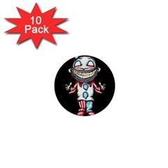 Super Secret Clown Business Ii  1  Mini Buttons (10 Pack)  by lvbart