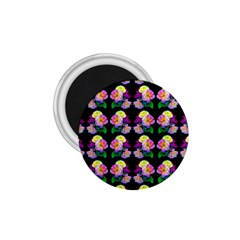 Rosa Yellow Roses Pattern On Black 1 75  Magnets