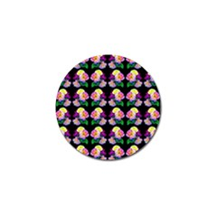 Rosa Yellow Roses Pattern On Black Golf Ball Marker (10 Pack) by Costasonlineshop