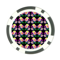 Rosa Yellow Roses Pattern On Black Poker Chip Card Guards