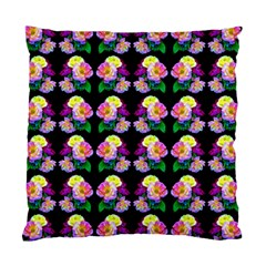 Rosa Yellow Roses Pattern On Black Standard Cushion Case (one Side)
