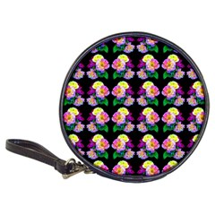 Rosa Yellow Roses Pattern On Black Classic 20 Cd Wallets