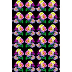 Rosa Yellow Roses Pattern On Black 5 5  X 8 5  Notebooks by Costasonlineshop