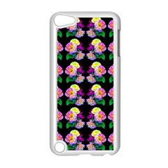 Rosa Yellow Roses Pattern On Black Apple Ipod Touch 5 Case (white)