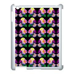 Rosa Yellow Roses Pattern On Black Apple Ipad 3/4 Case (white)