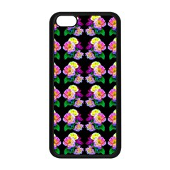 Rosa Yellow Roses Pattern On Black Apple Iphone 5c Seamless Case (black)