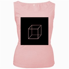 Simple Cube Women s Pink Tank Top by Valentinaart