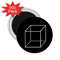 Simple Cube 2 25  Magnets (100 Pack)  by Valentinaart