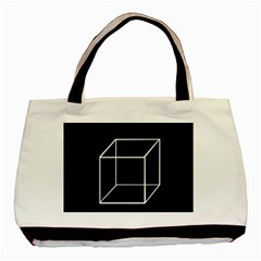 Simple Cube Basic Tote Bag by Valentinaart