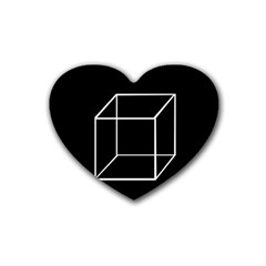 Simple Cube Heart Coaster (4 Pack)  by Valentinaart