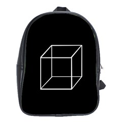 Simple Cube School Bags (xl)  by Valentinaart