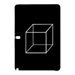 Simple Cube Samsung Galaxy Tab Pro 10 1 Hardshell Case by Valentinaart
