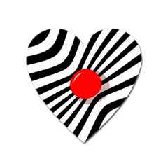 Abstract Red Ball Heart Magnet by Valentinaart