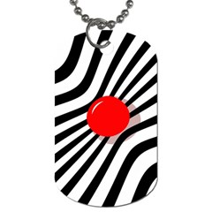 Abstract Red Ball Dog Tag (two Sides) by Valentinaart