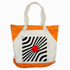 Abstract Red Ball Accent Tote Bag by Valentinaart