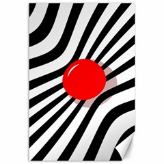 Abstract Red Ball Canvas 24  X 36  by Valentinaart