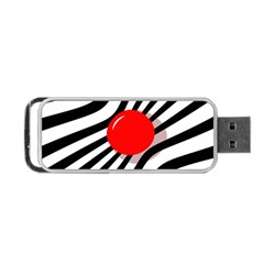 Abstract Red Ball Portable Usb Flash (one Side) by Valentinaart