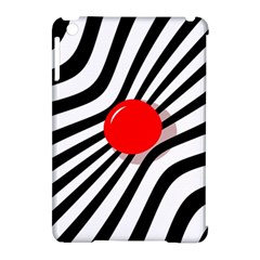 Abstract Red Ball Apple Ipad Mini Hardshell Case (compatible With Smart Cover) by Valentinaart