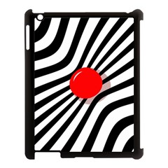 Abstract Red Ball Apple Ipad 3/4 Case (black) by Valentinaart