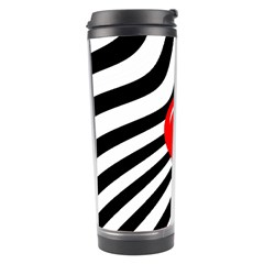Abstract Red Ball Travel Tumbler by Valentinaart