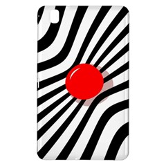 Abstract Red Ball Samsung Galaxy Tab Pro 8 4 Hardshell Case by Valentinaart