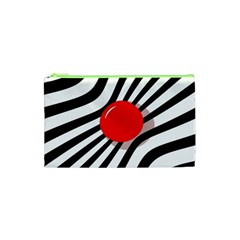 Abstract Red Ball Cosmetic Bag (xs) by Valentinaart