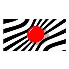 Abstract red ball Satin Shawl
