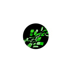 Green Decorative Abstraction 1  Mini Magnets by Valentinaart