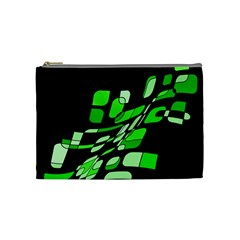 Green Decorative Abstraction Cosmetic Bag (medium)  by Valentinaart