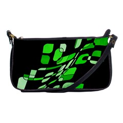 Green Decorative Abstraction Shoulder Clutch Bags by Valentinaart