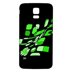 Green Decorative Abstraction Samsung Galaxy S5 Back Case (white) by Valentinaart