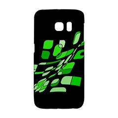 Green Decorative Abstraction Galaxy S6 Edge by Valentinaart