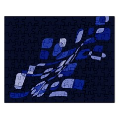 Blue Abstraction Rectangular Jigsaw Puzzl by Valentinaart