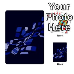 Blue Abstraction Multi Purpose Cards (rectangle)