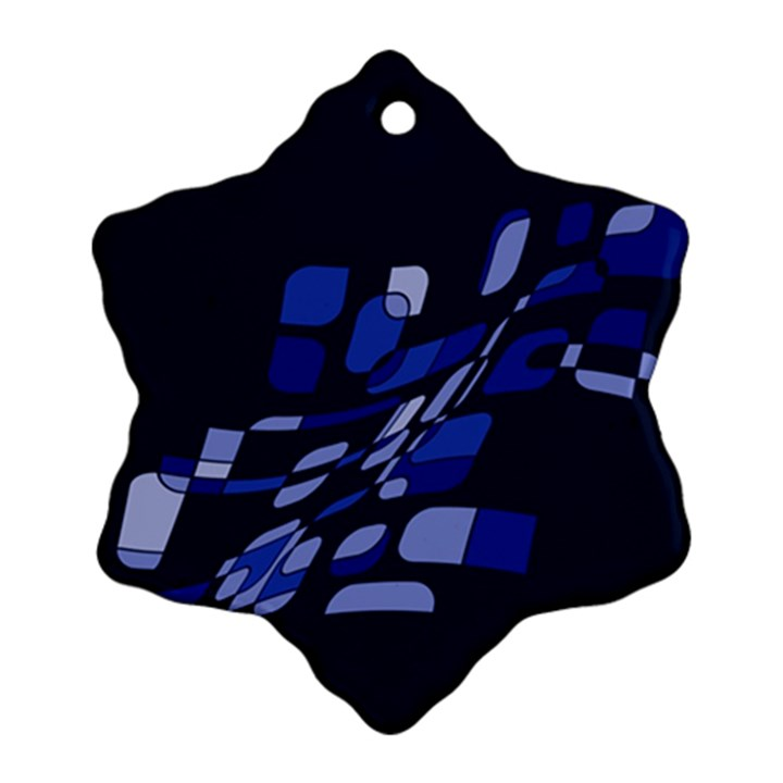Blue abstraction Snowflake Ornament (2-Side)