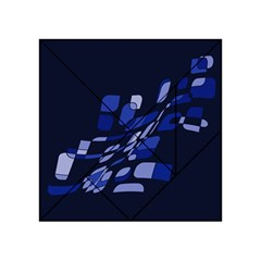Blue abstraction Acrylic Tangram Puzzle (4  x 4 ) by Valentinaart