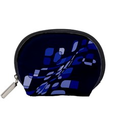 Blue Abstraction Accessory Pouches (small)  by Valentinaart