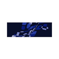 Blue Abstraction Satin Scarf (oblong) by Valentinaart