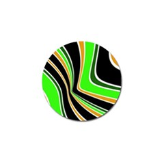 Colors Of 70 s Golf Ball Marker by Valentinaart
