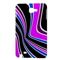 Colors of 70 s Samsung Galaxy Note 1 Hardshell Case by Valentinaart
