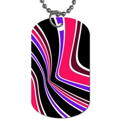 Colors Of 70 s Dog Tag (one Side) by Valentinaart