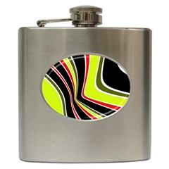 Colors Of 70 s Hip Flask (6 Oz) by Valentinaart
